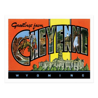 Greetings From Cheyenne Wyoming US City Postcard