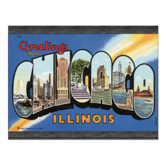 Greetings From Chicago Illinois, Vintage Postcard