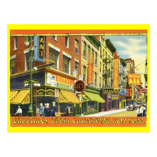 Greetings from Chinatown, New York City Vintage Postcard