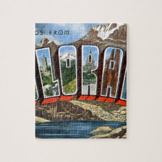 Greetings From Colorado Jigsaw Puzzle