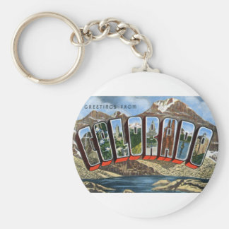 Greetings From Colorado Keychain