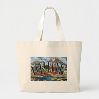 Greetings From Colorado Large Tote Bag