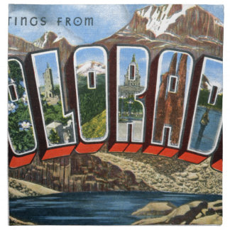 Greetings From Colorado Napkin