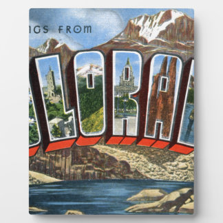 Greetings From Colorado Plaque
