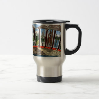 Greetings From Colorado Travel Mug