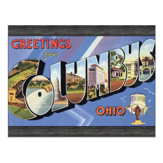Greetings From Columbus Ohio, Vintage Postcard