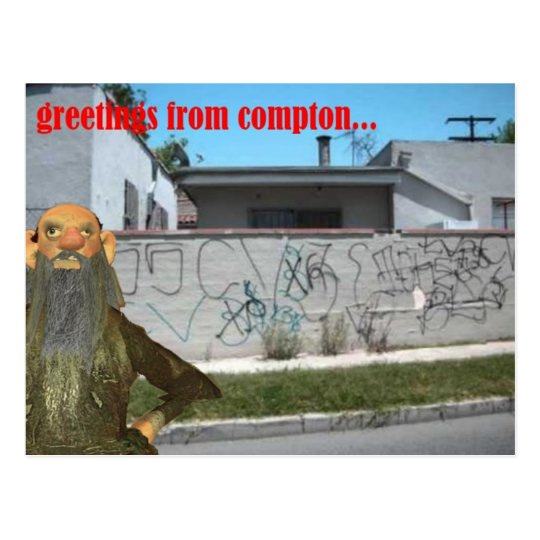 greetings from compton postcard