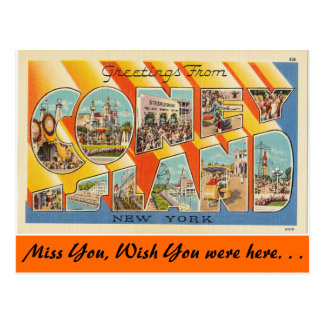 Greetings from Coney Island Postcard