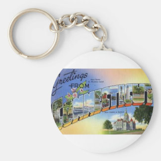 Greetings From Connecticut Keychain