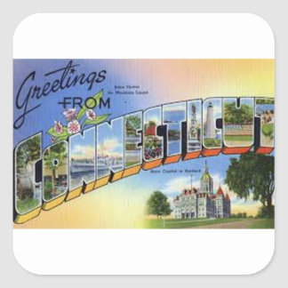 Greetings From Connecticut Square Sticker