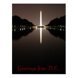 Greetings from D.C. Postcard