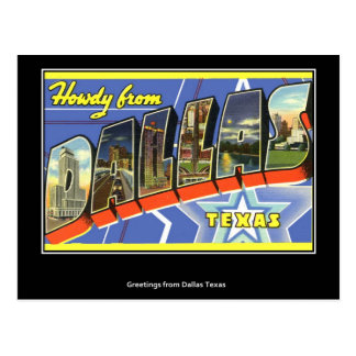 Greetings from Dallas Vintage Postcard