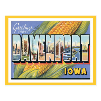 Greetings From Davenport Iowa Postcard