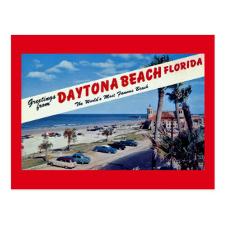 Greetings from Daytona Beach, Florida Vintage Postcard