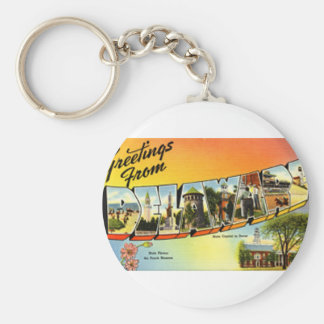 Greetings From Delaware Keychain