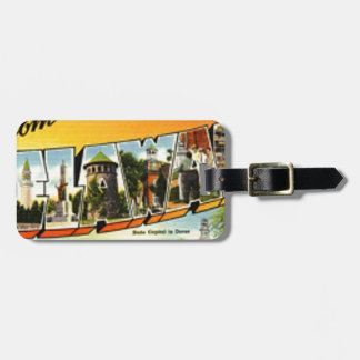 Greetings From Delaware Luggage Tag