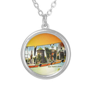 Greetings From Delaware Silver Plated Necklace
