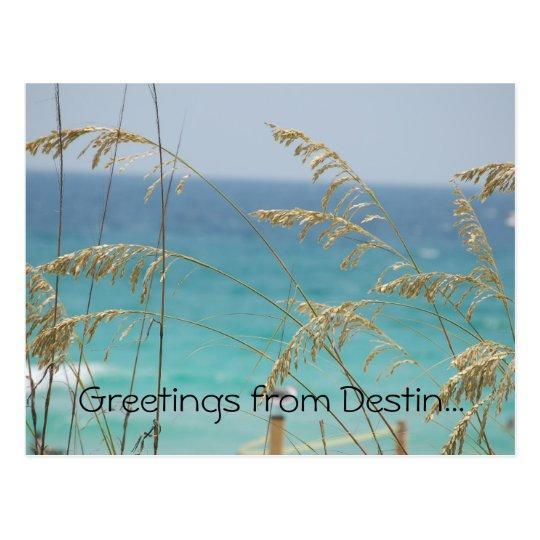 Greetings from Destin postcard