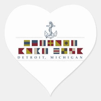 Greetings from Detroit Heart Sticker