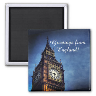 Greetings from England fridge magnet with Big Ben