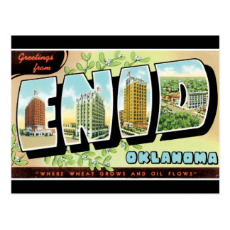 Greetings from Enid Postcard