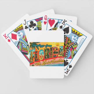Greetings From Florida Bicycle Playing Cards