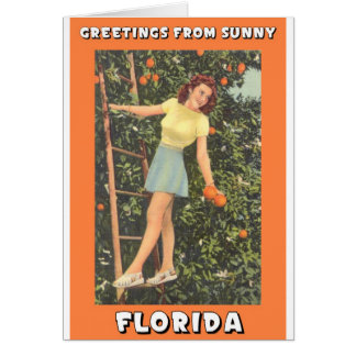 Greetings From Florida Card