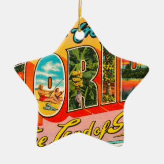 Greetings From Florida Ceramic Ornament