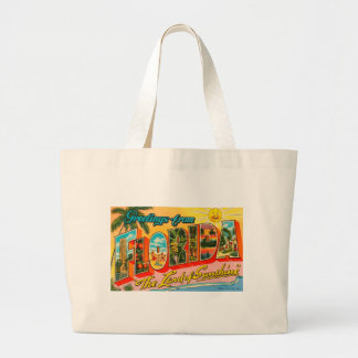 Greetings From Florida Large Tote Bag