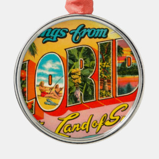 Greetings From Florida Metal Ornament