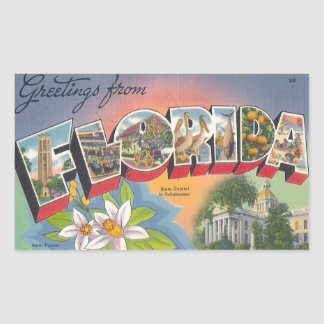 Greetings from FLORIDA Sticker