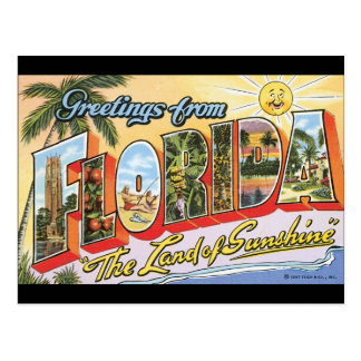 Greetings from Florida_Vintage Travel Poster Postcard
