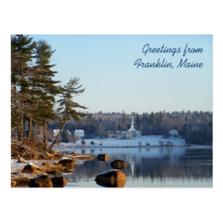 Greetings from Franklin, Maine Postcard