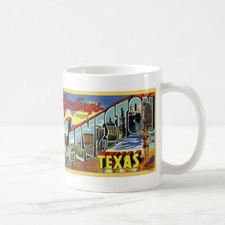 Greetings from Galveston Vintage Postcard Mug
