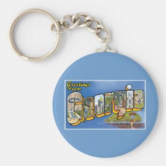 Greetings from Georgia! Basic Round Button Keychain