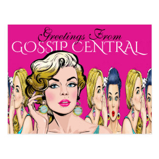 Greetings From Gossip Central Postcard
