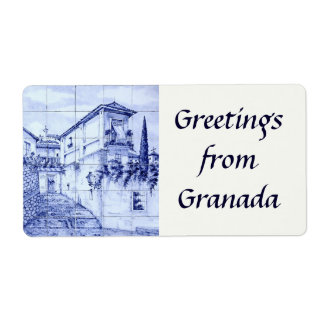 Greetings from Granada Shipping Label