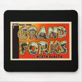 Greetings from Grand Forks North Dakota Mouse Pad