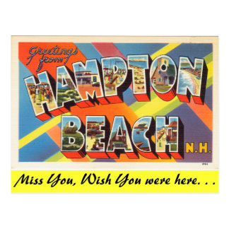 Greetings from Hampton Beach Postcard