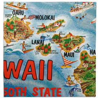 Greetings From Hawaii Napkin