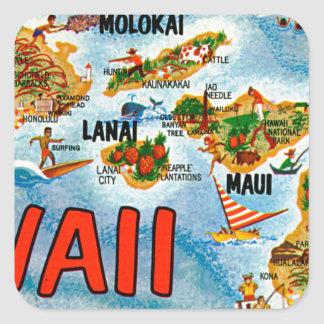 Greetings From Hawaii Square Sticker
