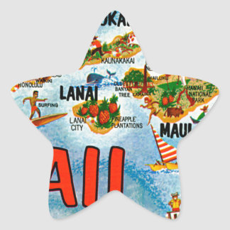 Greetings From Hawaii Star Sticker