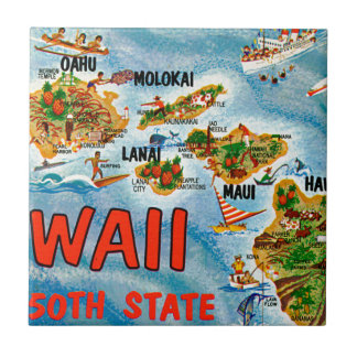 Greetings From Hawaii Tile