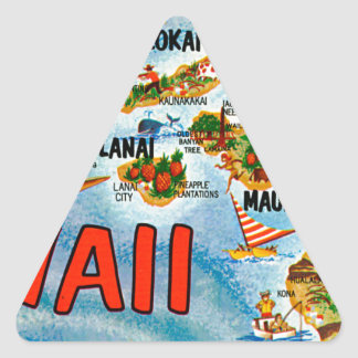 Greetings From Hawaii Triangle Sticker