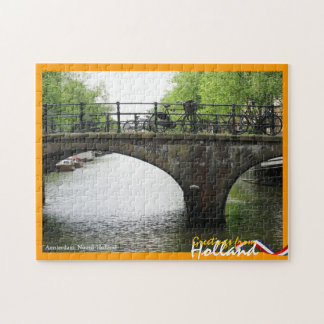 Greetings from Holland Amsterdam Bridge Jigsaw Puzzle