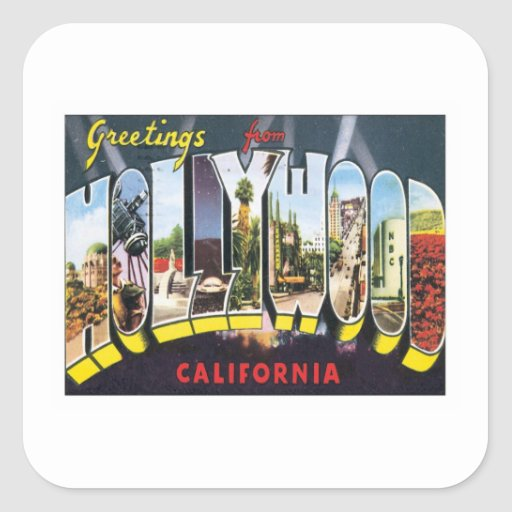 Greetings From Hollywood California Sticker