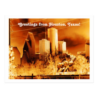 Greetings from Houston,Texas! Postcard