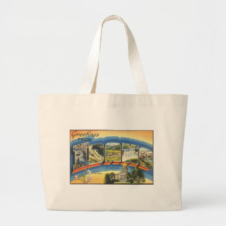 Greetings from Idaho Large Tote Bag