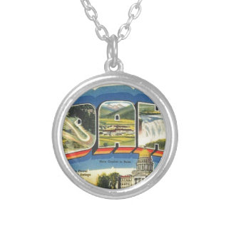 Greetings from Idaho Silver Plated Necklace