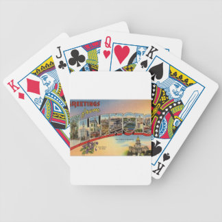 Greetings From Illinois Bicycle Playing Cards